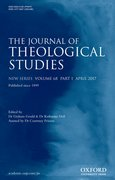Cover for The Journal of Theological Studies