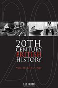 Cover for Twentieth Century British History - 14774674