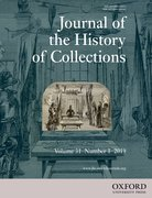 Cover for Journal of the History of Collections - 14778564