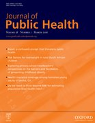 Cover for Journal of Public Health
