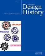 Cover for Journal of Design History