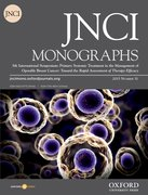Cover for JNCI: Monographs