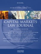 Cover for Capital Markets Law Journal