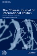 Cover for The Chinese Journal of International Politics