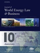 Cover for The Journal of World Energy Law & Business
