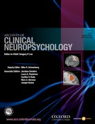 Cover for Archives of Clinical Neuropsychology