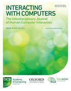 Cover for Interacting with Computers