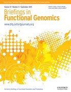 Cover for Briefings in Functional Genomics