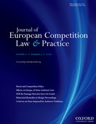 Cover for Journal of European Competition Law & Practice