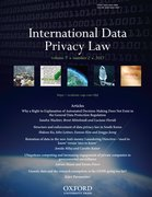 Cover for International Data Privacy Law