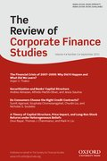 Cover for The Review of Corporate Finance Studies