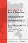 Cover for Uniform Law Review