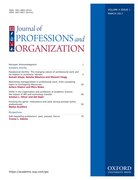 Cover for Journal of Professions and Organization