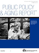 Cover for Public Policy & Aging Report