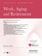 Cover for Work, Aging and Retirement