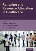 Cover for Rationing and Resource Allocation in Healthcare - 9780190200756