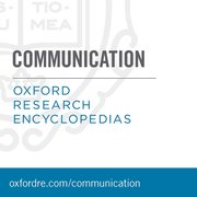 Cover for Oxford Research Encyclopedia: Communication - 9780190228613