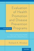 Cover for Evaluation of Health Promotion and Disease Prevention Programs