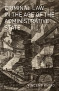 Cover for Criminal Law in the Age of the Administrative State