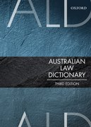 Cover for Australian Law Dictionary - 9780190304737