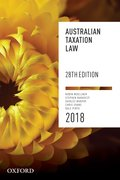 Cover for Australian Taxation Law 2018