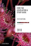Cover for Core Tax Legislation and Study Guide 2018