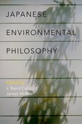 Cover for Japanese Environmental Philosophy