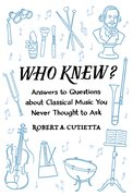 Cover for Who Knew? - 9780190462543