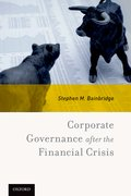 Cover for Corporate Governance after the Financial Crisis