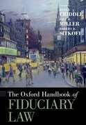 Cover for The Oxford Handbook of Fiduciary Law