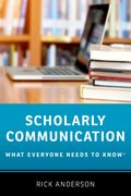 Cover for Scholarly Communication - 9780190639457