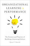 Cover for Organizational Learning and Performance - 9780190648374