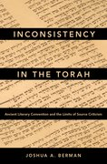 Cover for Inconsistency in the Torah