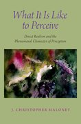 Cover for What It Is Like To Perceive