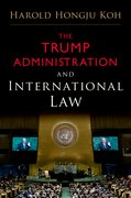 Cover for The Trump Administration and International Law - 9780190912185