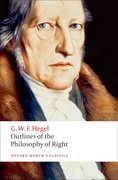 Cover for Outlines of the Philosophy of Right - 9780192806109