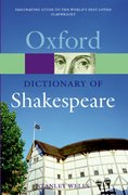 Cover for A Dictionary of Shakespeare