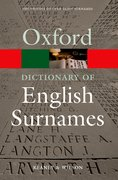 Cover for A Dictionary of English Surnames