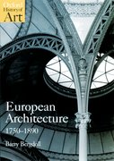 Cover for European Architecture 1750-1890