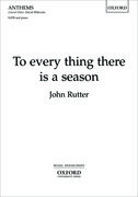 Cover for To every thing there is a season