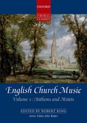 Cover for English Church Music, Volume 1: Anthems and Motets