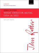 Cover for What sweeter music