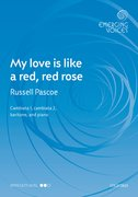 Cover for My love is like a red, red rose