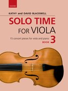 Cover for Solo Time for Viola Book 3 - 9780193513303