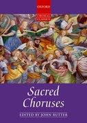 Cover for Sacred Choruses - 9780193518827