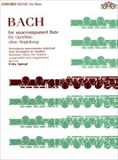 Cover for Bach for Unaccompanied Flute