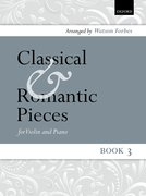 Cover for Classical and Romantic Pieces for Violin Book 3