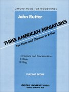 Cover for Three American Miniatures