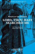 Cover for Lord, thou hast searched me