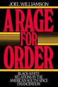 Cover for A Rage for Order